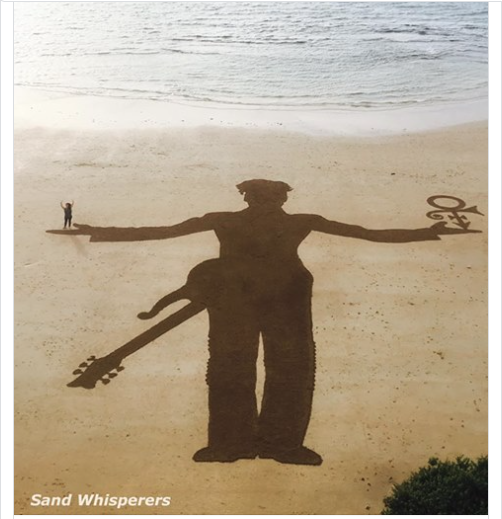 Another year, another gorgeous tribute from the #SandWhisperers  #Prince4Ever <br>http://pic.twitter.com/BHOpXEtxwG