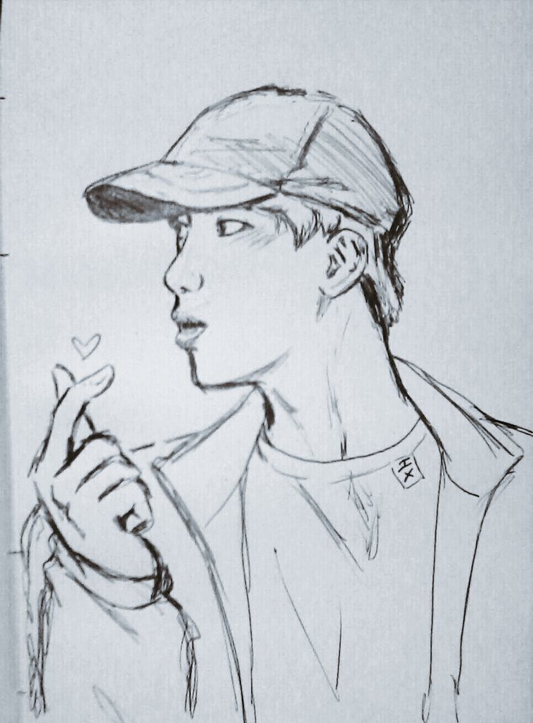I Wanna Draw Jin On Twitter I Was On A Trip But I Managed To