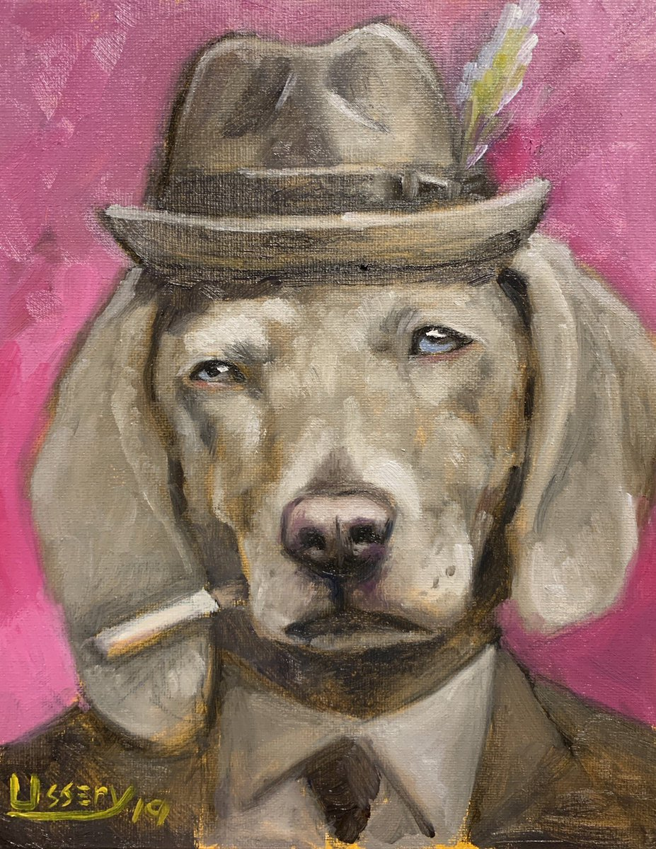 This is a little painting I did within the time duration of the James Bond movie Dr No. Oil 8x10 canvas panel.  #Artist #artoftheday #art_spotlight #Retriever #labradorretriever  #Dogs #dogsofinstagram #dogstagram #OilPainting #NewArt #Artist #Animals #Art<br>http://pic.twitter.com/EUrEjfBmVw