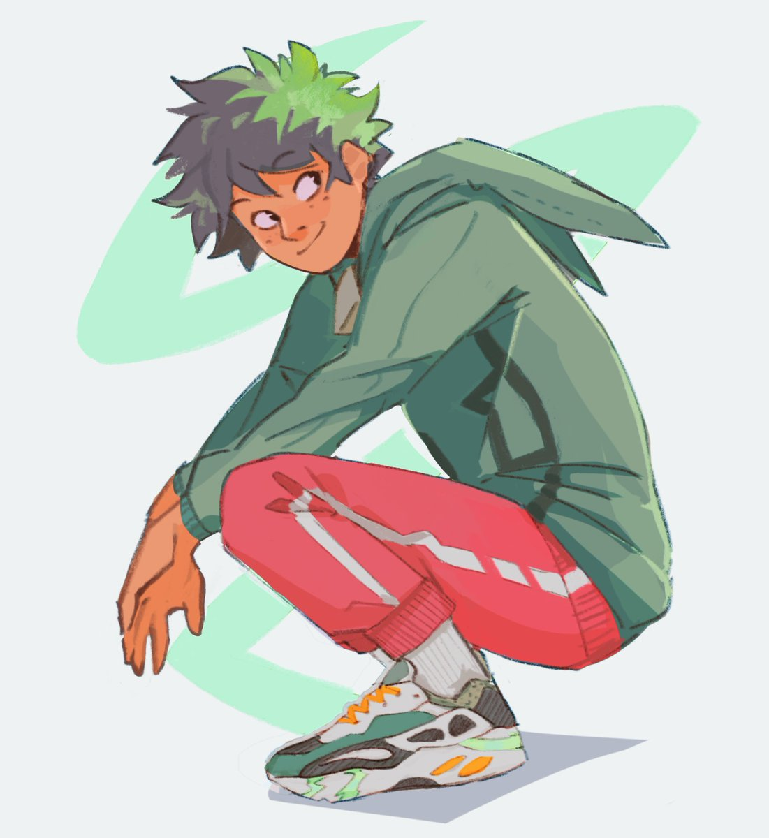 Who knew wearing your own merch could be so good for your self esteem #midoriya
