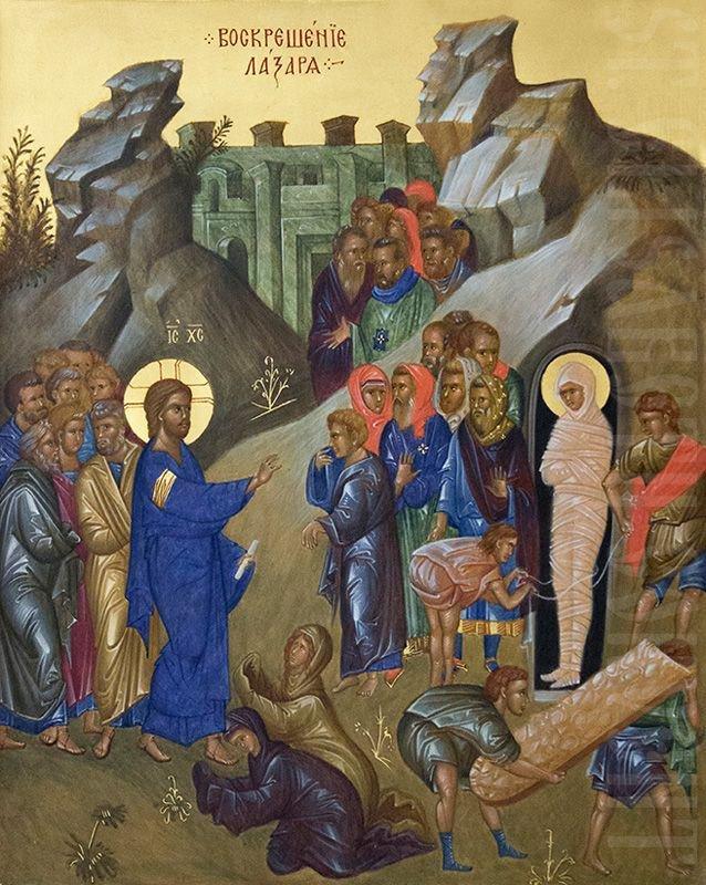 Jesus prefigured His Resurrection by raising His friend Lazarus from the dead.