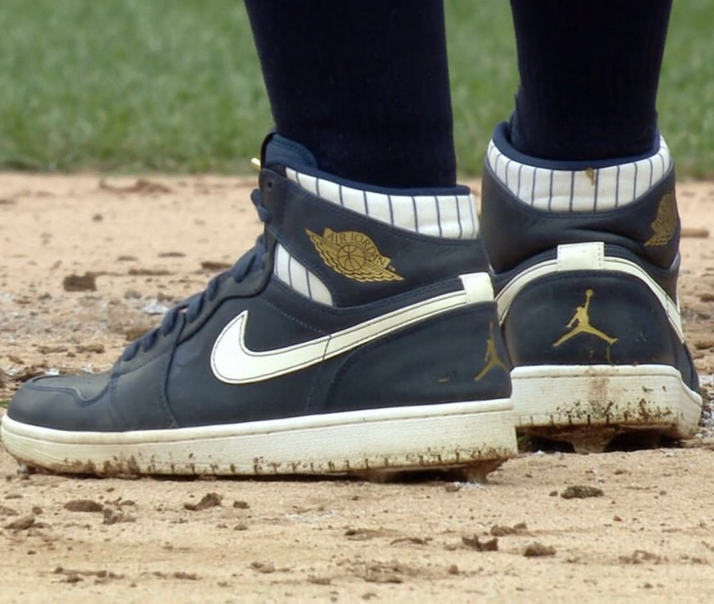 Clint Frazier homered today in these custom Derek Jeter Air Jordan 1 cleats https://t.co/51Cd9JxZG2