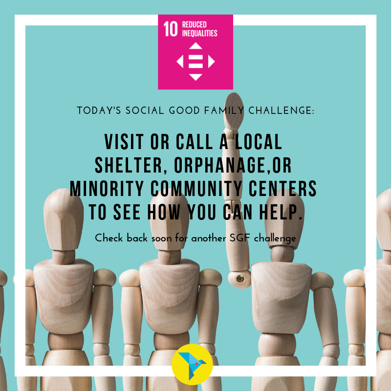 Whether you have time, money, blankets, clothes, diapers, books, expertise, or connections, we can all do something to help out. Find out what your role can be.  #reducedinequalities #volunteer #equality #equalitynow #SDGs #SDG10 #Globalgoals #local