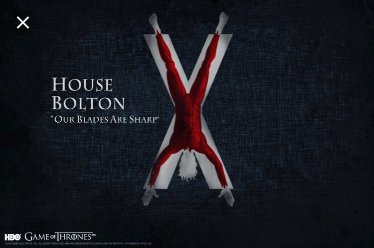 When House Bolton gets rebranded. #GameofThrones
