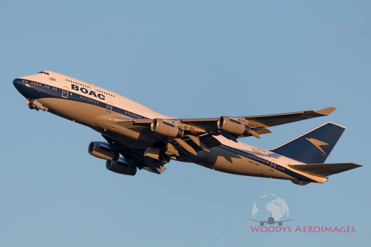 The @British_Airways #BOAC #Boeing #B747 G-BYGC climbs out of @SeaTacAirport during #GoldenHour today.   #avgeek @BAretrojets<br>http://pic.twitter.com/fIi6IvUuOY