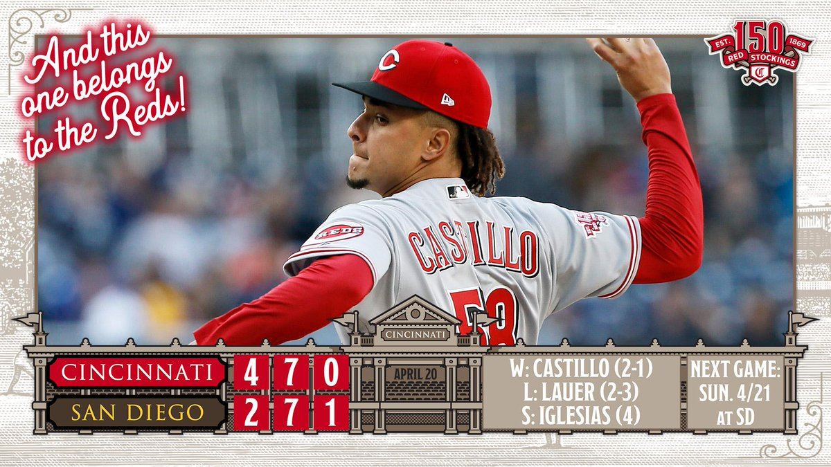 Luis Castillo does more Luis Castillo stuff as the Reds win their third straight! ➡️ https://atmlb.com/2GxaXpo