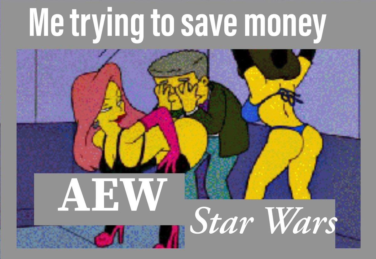 My life summed up in one photo. #AEW #StarWars @AEWrestling @starwars