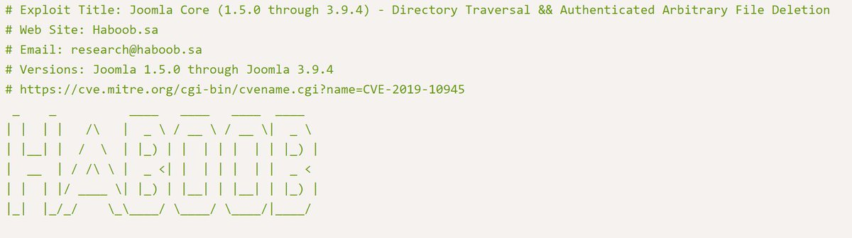 Joomla Core 1 5 0 - 3 9 4 - Directory Traversal
