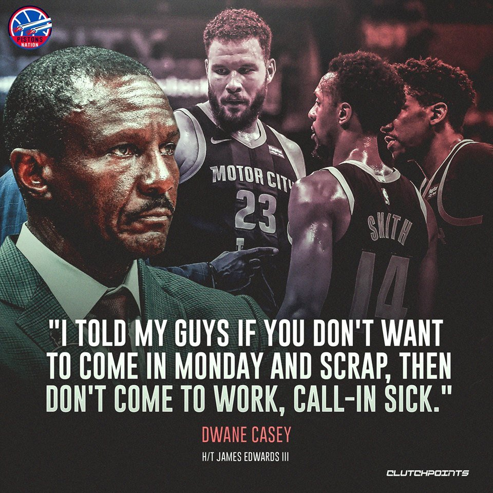 Dwane Casey will not settle for just the same effort from our players. 🙌  #DetroitBasketball #Pistons