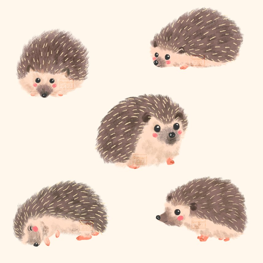 Some hedgehogs I drew last year to add to my portfolio!   #illustration #kidlitart #digitalart<br>http://pic.twitter.com/orvhEW52Ij
