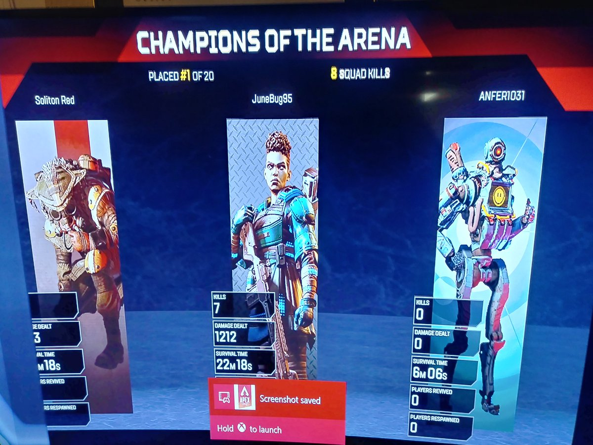 I just won my first championship!!! Let's goooo!!! Thank you @JamesFuryNH for coaching me through my first tournament and getting me hooked on @PlayApex !!! I seriously didn't get a kill for the longest time but now I expect 2 or 3 every game. #Gamer #Streamer #Twitch #DLive #PNW