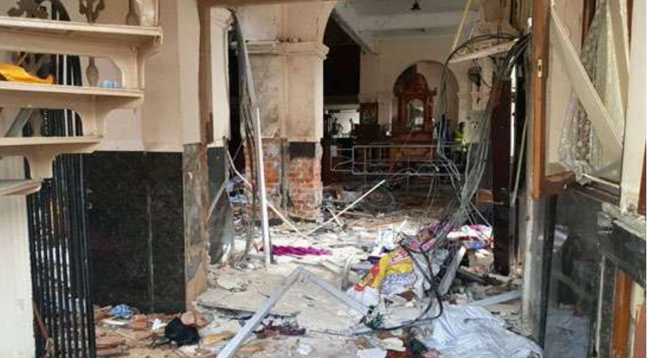 Iglesia en Sri Lanka tras las explosiones