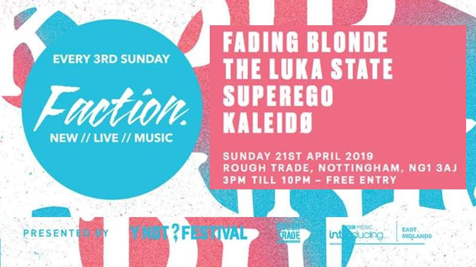 """THIS AFTERNOON! Please join us in @roughtrade #Nottingham to witness these four stunning bands! It's going to be a special one. Please come and chill, say """"hello"""" and enjoy the finest free music. #Kaleidø"""