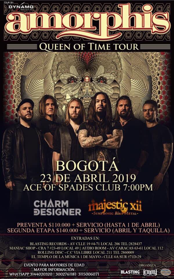 🇨🇴 Next stop Bogotá! @Lemmyprod23 #amorphis #queenoftimetour #queenoftimetour2019 #dynamoprod https://t.co/YlcV3mjJXu