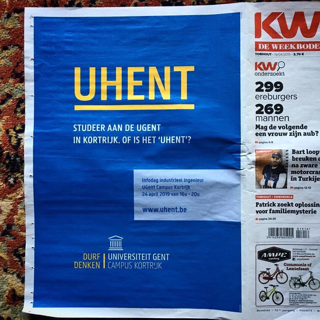 Only available in West-Vlaanderen, Belgium: #UHENT = @ugent   Campus #Kortrijk https://t.co/21pghzA3h5