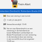 @TreinAlert - ⚠ @TreinAlert Van en naar Barendrecht is er een verstoring in de treindienst en tussen Rotterdam Lombardijen en Breda-Prinsenbeek is er een verstoring in de treindienst door een storing in een tunnel. Dit duurt tot ongeveer 15:45 uu.. https://t.co/kAJehtNgZx