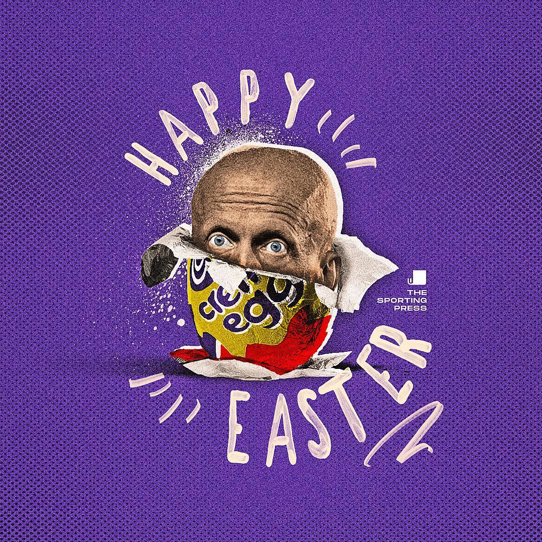 Happy Easter 🐰  If only it was as easy as this to get Pierluigi Collina to make a comeback 😫  [🎨: @sportingpress1]