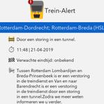 @TreinAlert - ⚠ @TreinAlert Tussen Rotterdam Lombardijen en Breda-Prinsenbeek is er een verstoring in de treindienst en Van en naar Barendrecht is er een verstoring in de treindienst door een storing in een tunnel. Zodra we meer weten informeren .. https://t.co/mXHx1r2yzh