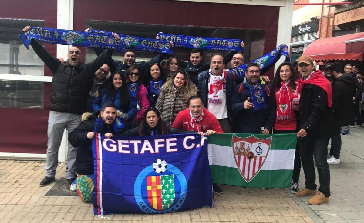 Hoy contra el Getafe está en juego gran parte de la temporada. El único objetivo es entrar en Champions. 1.000 #sevillistas estaremos en el estadio Alfonso Pérez para dejarnos el alma. El equipo nos necesita. ¡VAMOOOS! Es el momento de darlo todo.