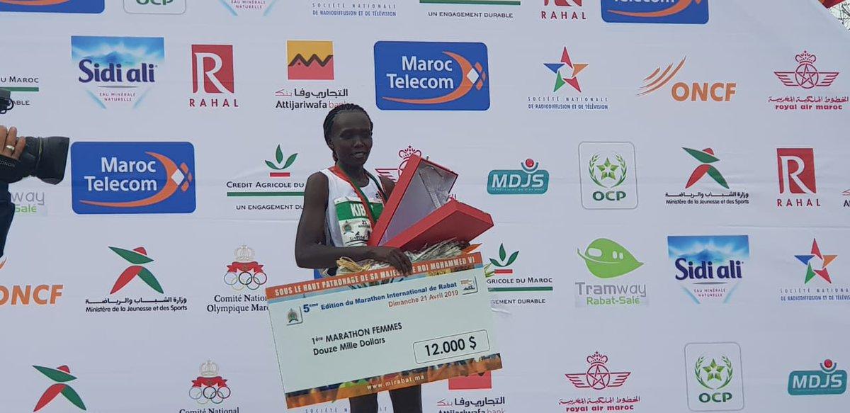 Félicitations aux #gagnantes du Marathon international de #Rabat  1ère place 🥇Sylvia Kibet 🇰🇪 2ème place 🥈Shelmith Muriuki 🇰🇪 3ème place 🥉Priscah Cherono 🇰🇪  #MarathonRabat #MarathonRabat2019 https://t.co/vPDPnpbUQu