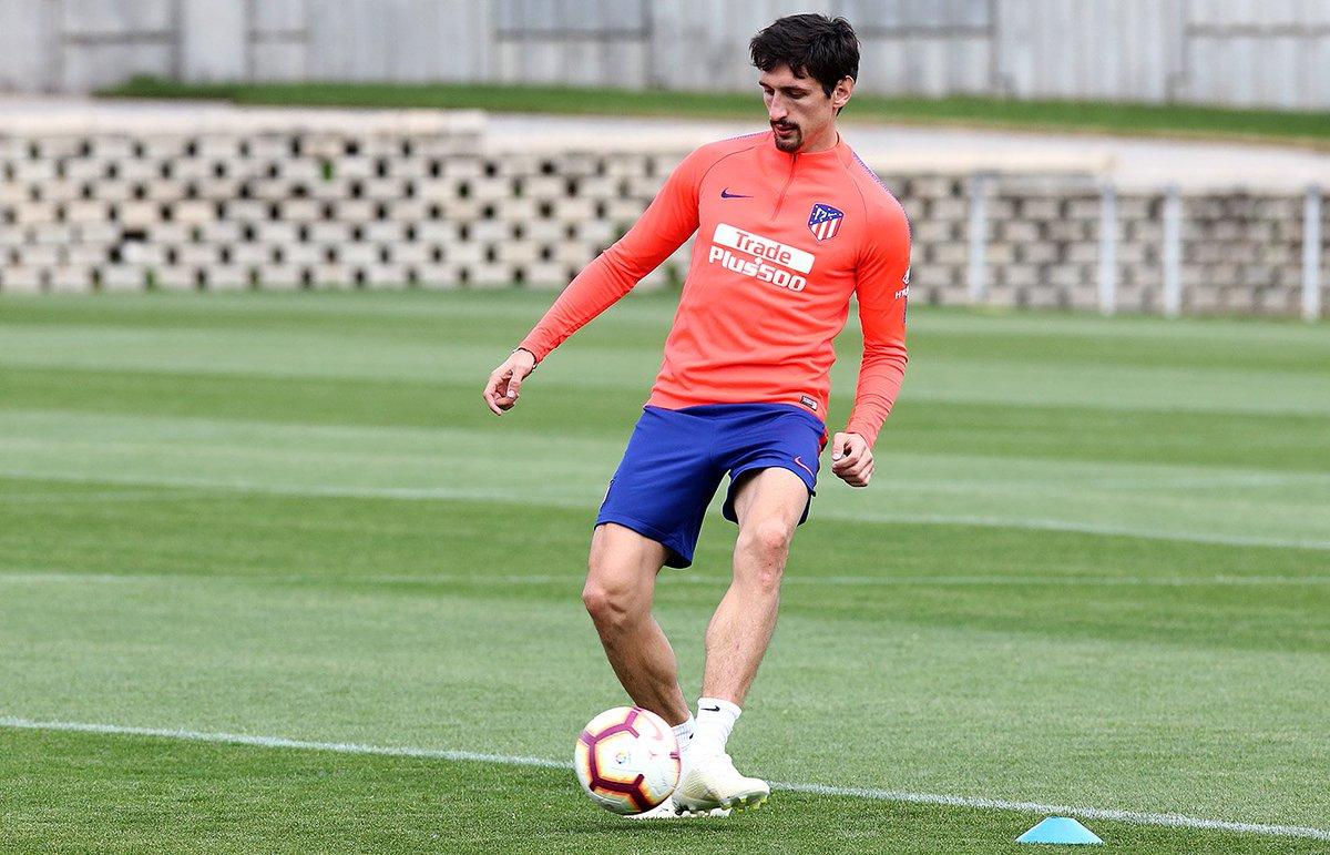 Savic, en un entrenamiento (Foto: Atleti).