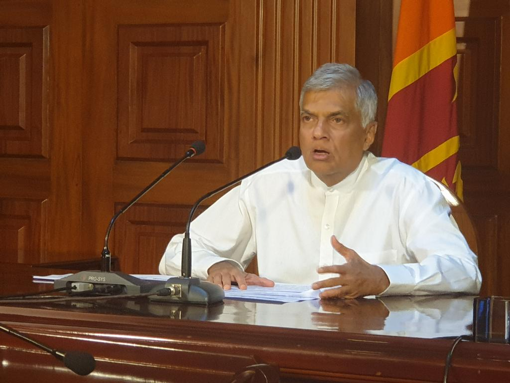 """Prime Minister @RW_UNP says there appears to have been prior information about a possible attack. He was also not kept informed and it is one of the issues that must be looked into. """"For now the priority is to apprehend the attackers"""""""