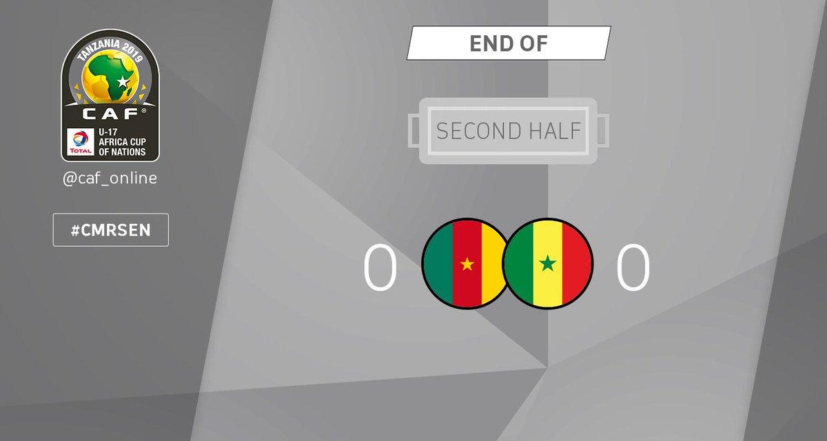 SECOND HALF | Cameroon - Senegal 0-0  #TotalAFCONU17 #CMRSEN