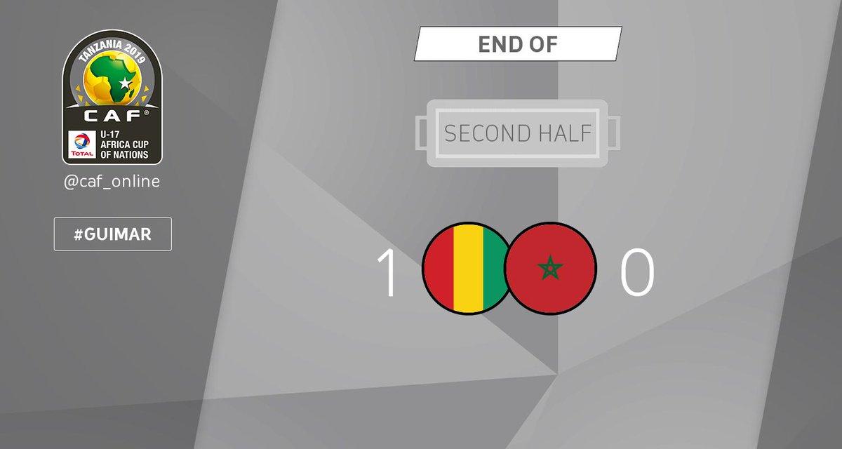 SECOND HALF | Guinea - Morocco 1-0  #TotalAFCONU17 #GUIMAR