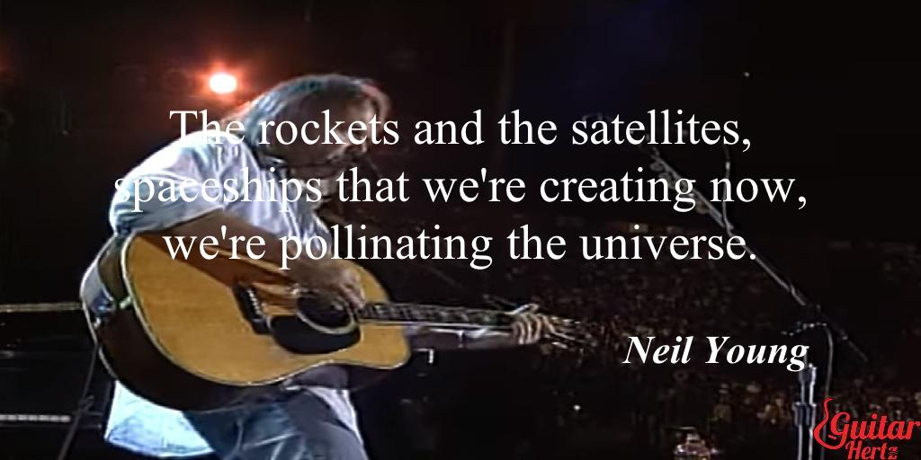#Guitar #WednesdayWisdom   #MusicWednesday  with #NeilYoung #Quote. Where the fans? ✌ pls, share🎤