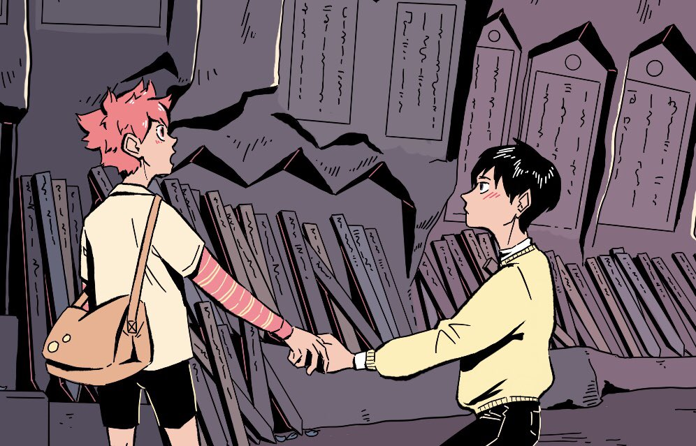 Preview of the first of three kagehina daytrip illustrations, as voted on by my patrons!  The locations are all based on places I visited while travelling during march, so I'm super excited to be working on these!  You can see the full image here:  https://www. patreon.com/severalsmallbe ans &nbsp; … <br>http://pic.twitter.com/muj0PK41rH