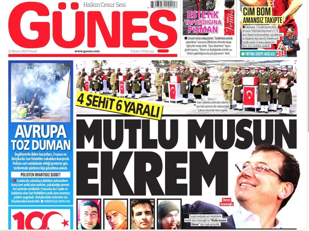 Gazeteler böyle manşet atmaya devam ederse Allah korusun bunların devamı gelebilir. Herkesi sukünete davet lazım.