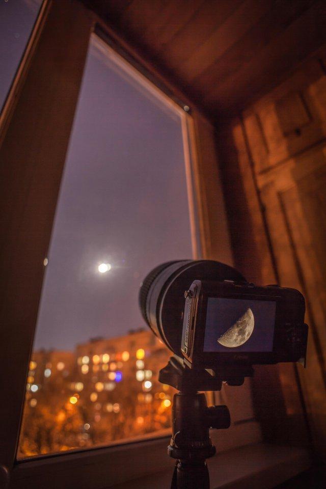 на какой фотоаппарат можно сфотографировать луну мысль страданиях