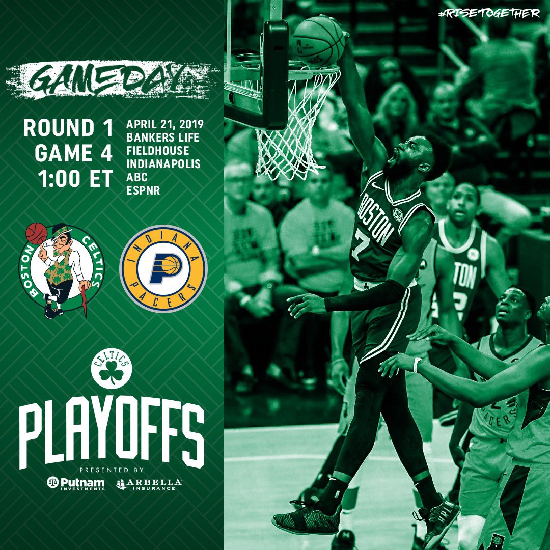 G A M E D A Y ☘️ Game 4  📍@TheFieldhouse  🕗 1:00 p.m. 📺@ABCNetwork 🎙@1057WROR