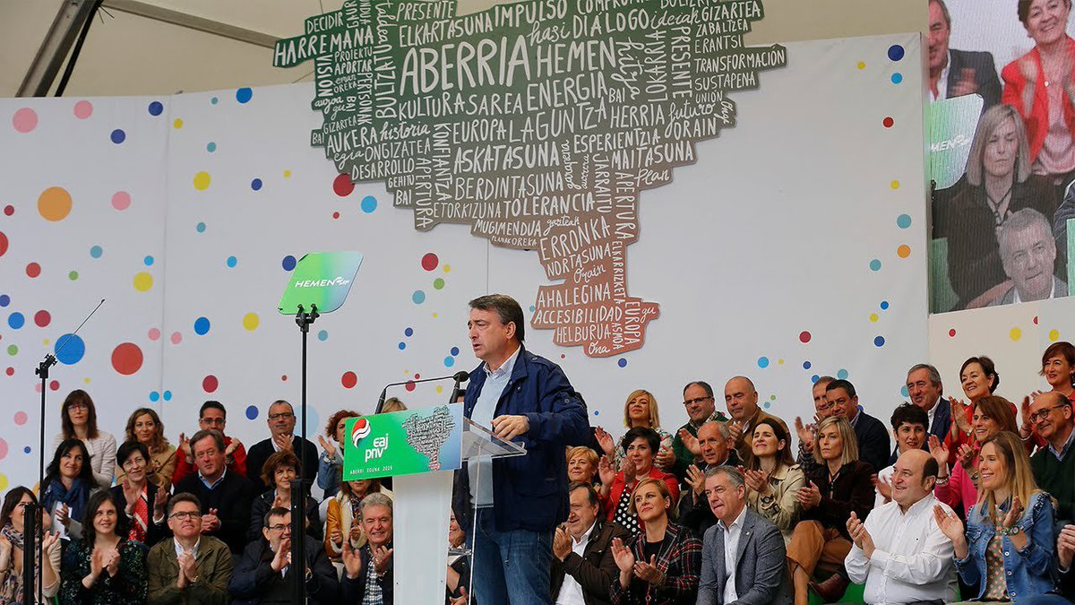 """.@AITOR_ESTEBAN: Hori da ezberdintzen gaituena. Gure abertzaletasuna zabala da, tolerantea, gizabidetsua. Espainiar agintari eta partidu askorena, aldiz, inposatzailea"""". #AberriEguna #HemenEAJPNV #ZureaGurea #A28"""