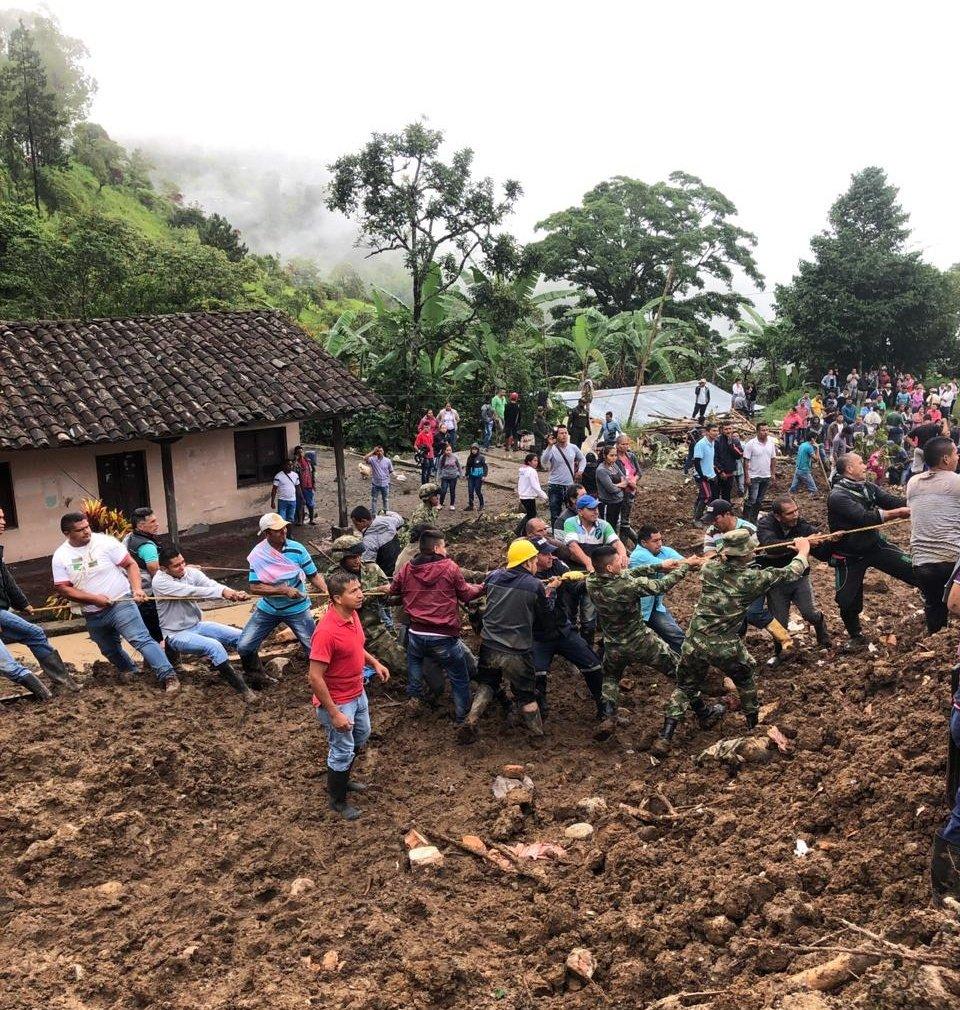 Presidente Duque se conduela por veintenar de víctimas tras deslizamiento de tierra en Cauca
