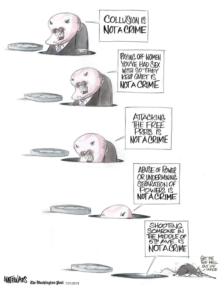 Listening to Rudy Giuliani on #CNNSOTU this morning. I'm feeling this 2018 cartoon deserves a retweet. https://wapo.st/2M6wqWz?tid=ss_tw&utm_term=.cfb8c3470cbc…