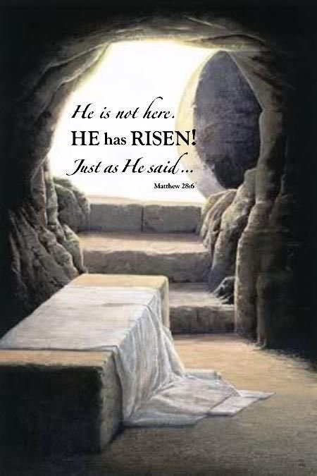 """""""Then the angel spoke to the women. """"Don't be afraid!"""" he said. """"I know you are looking for Jesus, who was crucified. He isn't here! He is risen from the dead, just as he said would happen. Come, see where his body was lying."""" Matthew 28:5-6 #ResurrectionSunday"""