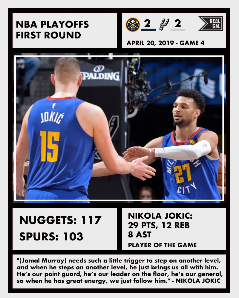 NBA Playoffs Snapshots (April 20): 76ers/Nets, Nuggets