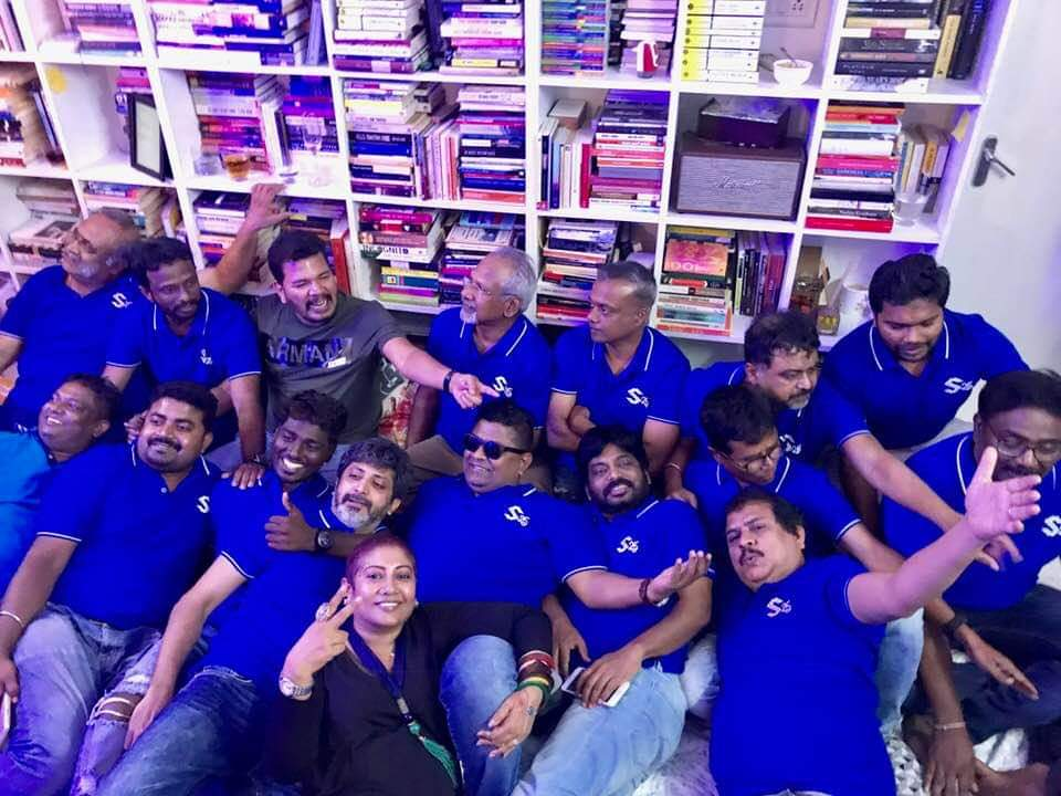 Picture of the day!  #Shankar25 party, which was thrown by Mysskin. So many well-known directors coming together, it's great to see all of them in one frame!  #Maniratnam #myssikin @menongautham @Atlee_dir @jayam_mohanraja @beemji @dirlingusamy @pandiraj_dir