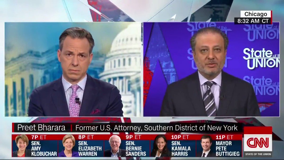 """That's an extraordinary statement and I would hope he would retract it."" Former US Attorney @PreetBharara responds to President Trump's personal attorney Rudy Giuliani saying ""there's nothing wrong with taking information from Russians."" #CNNSOTU https://cnn.it/2Xvzq3Y"