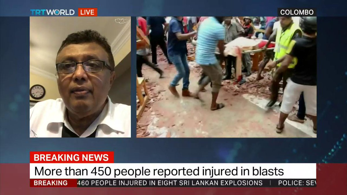 """There is a deep suspicion that there must be a foreign element involved.""  Hilmy Ahamed, Vice president of the Muslim Council of Sri Lanka, on Sri Lanka blasts"