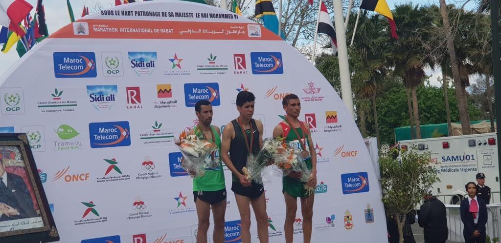 Félicitations aux gagnants des #10km au Marathon International de Rabat.                                                                                        1ère place   🥇MOHAMED Abid 2ème place 🥈HAJJAJ MOHAMMED 3ème place 🥉AMNAY SAID  #MarathonRabat #MarathonRabat2019 https://t.co/EAVJXVNp6S
