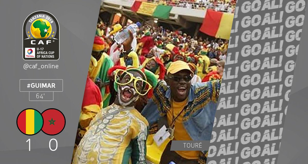 GOOOOAAAL | Momo Touré scores a goal for Guinea. Guinea - Morocco 1-0  #TotalAFCONU17 #GUIMAR