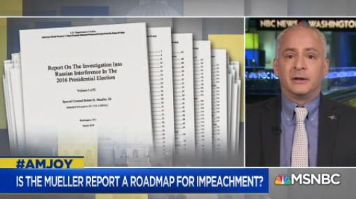 .@benjaminwittes: I have no doubt whatsoever that the material laid out in the #MuellerReport would adequately and amply and on its own support an impeachment. #AMJoy