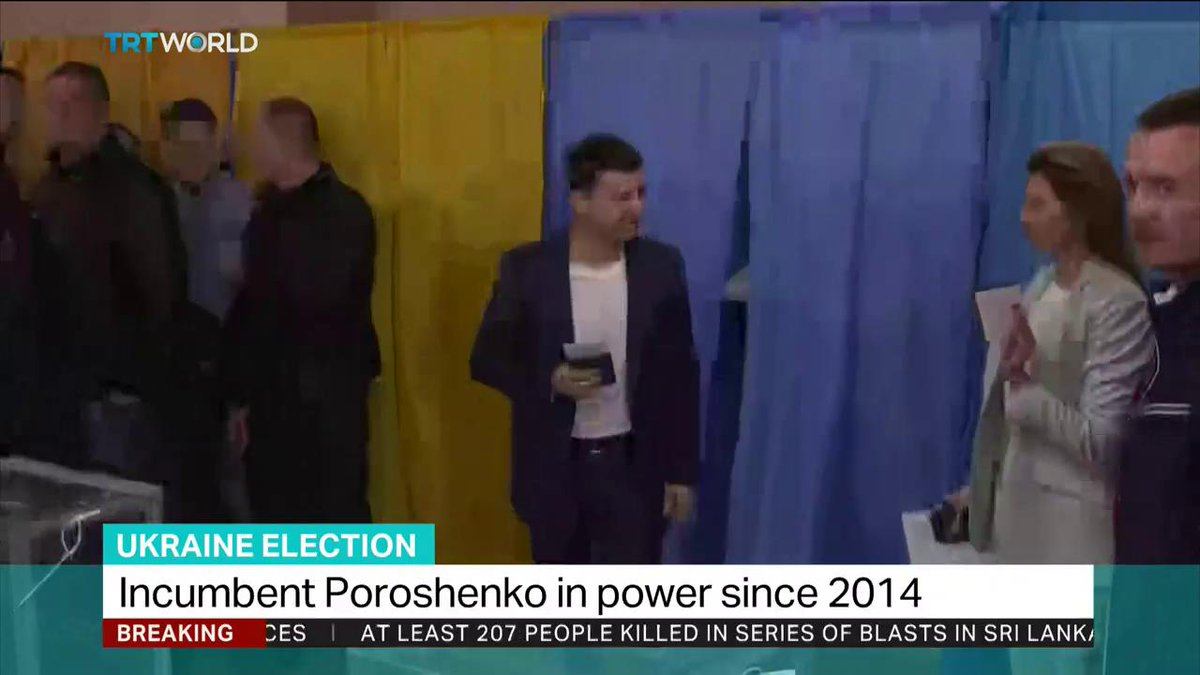 Our correspondent brings the latest from Kiev on the second round of Ukraine's presidential polls amid a competition between incumbent Poroshenko and a comedian Zelensky