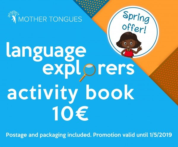 A super offer! Get the Language Explorers book for €10 (inclusive of postage!) • available in #English and #Gaeilge https://languagexplorers.eu/spring-offer-2019/ … #LanguagExplorers