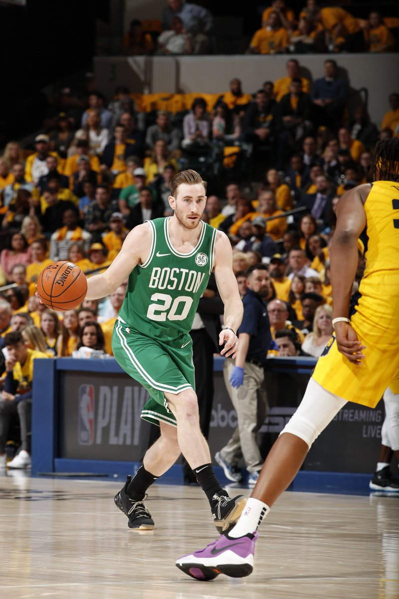 On to the next. The Celtics complete the sweep against the Pacers with a 110-106 win in Game 4.   Hayward: 20 points Morris: 18 points Tatum: 18 points Horford: 14 points