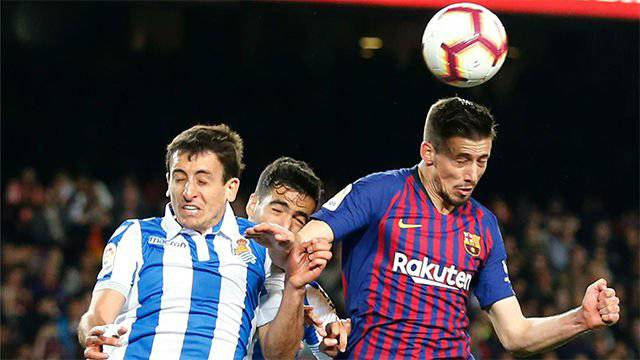 📰 [SPORT] | The Barca defence goes on the attack.  🔶 The back-line of Barca has added 14 goals this season.  🔷 Lenglet and Alba saved the game against Real Sociedad. There are already 13 different Barca goal scorers this season.