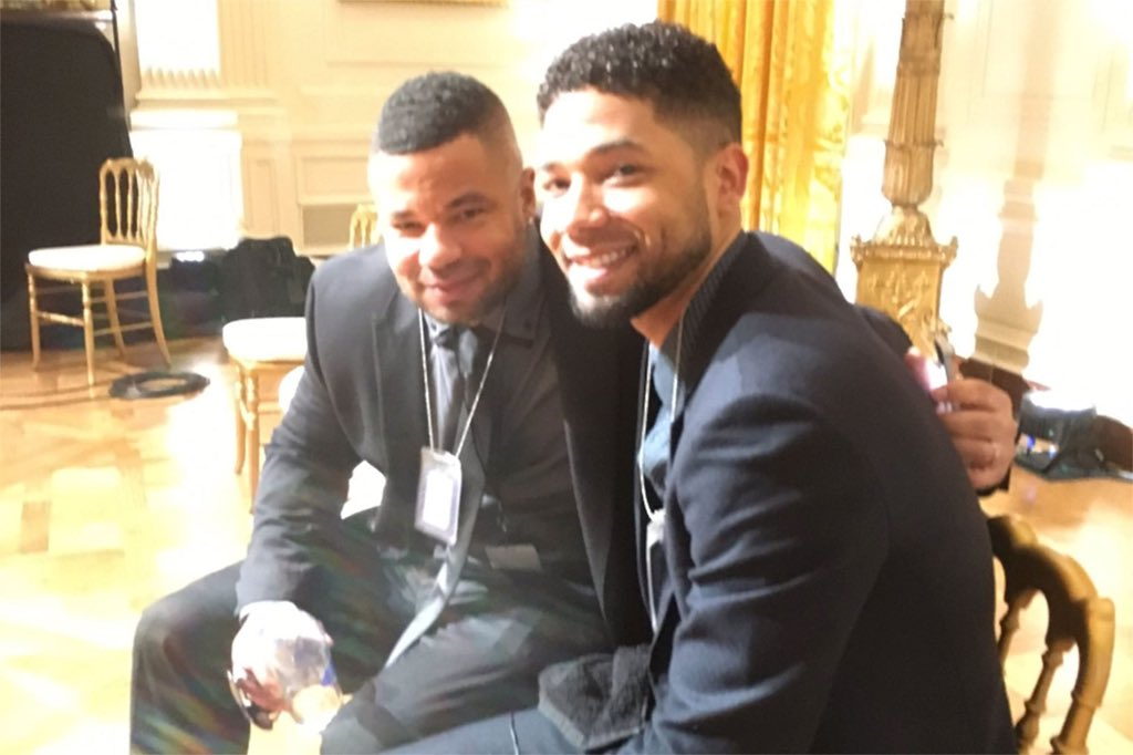 """Jussie Smollett's brother Jojo, published an op-ed this week, claiming that his brother Jussie was """"Violently awaking with Night Terrors"""" over his alleged attack earlier this year, keeping him up all night! Oh NO! Poor Jussie! 😂😂"""