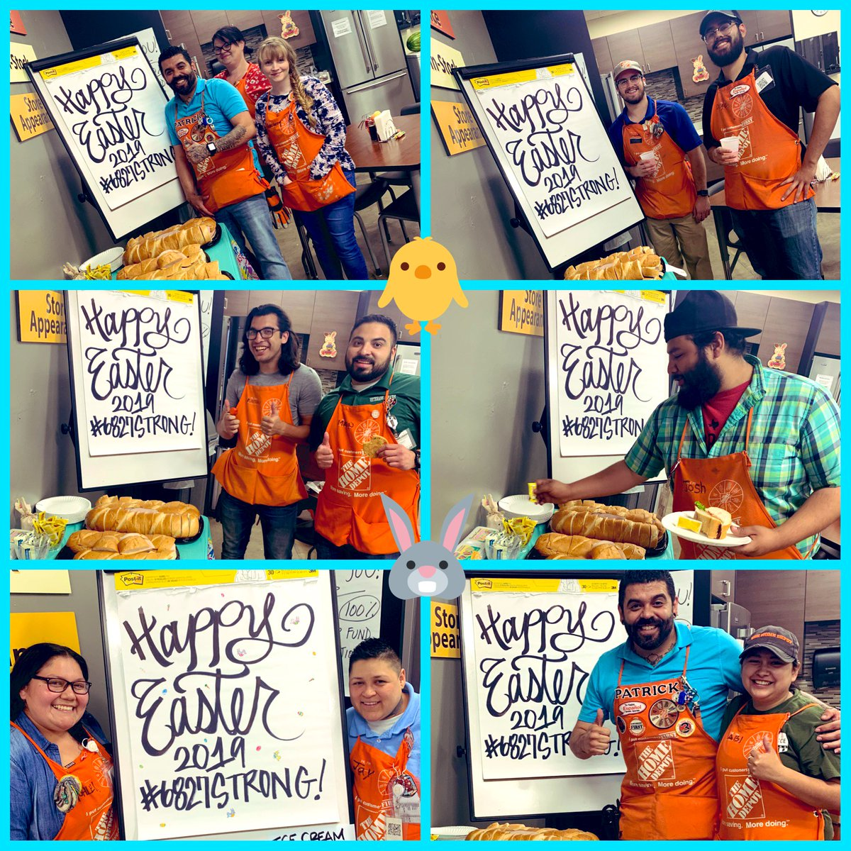Wishing Everyone A Happy Easter! From Our #HomeDepotFamily To Yours! Sanwiches with all the fixins! Provided from the VOA Committee! Shout out to all of our associates, Thank You for all that you do! #6827STRONG #LivingOurValues #HomeDepotFamily #TakingCareOfOurPeople #LetsDoThis <br>http://pic.twitter.com/kiwlmScD4R